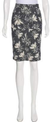 L'Agence Printed Knee-Length Skirt