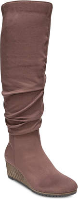 Dr. Scholl's Central Wide-Calf Wedge Boots Women's Shoes