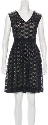 Yigal Azrouel Lace A-Line Dress