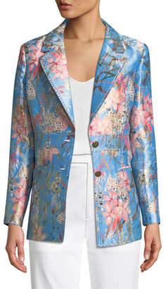 Berek Cherry Blossom Jacquard Jacket, Plus Size