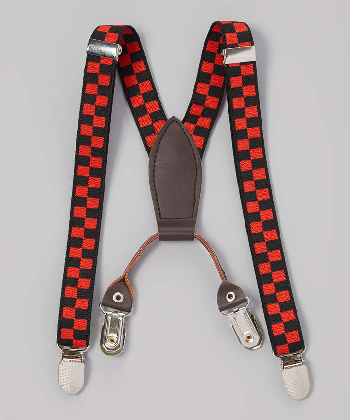 Red & Black Checker Suspender