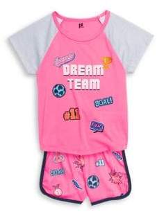 Little Girl's Two-Piece Graphic Pajama Set