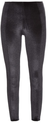 LISA MARIE FERNANDEZ Karlie velvet performance leggings $265 thestylecure.com