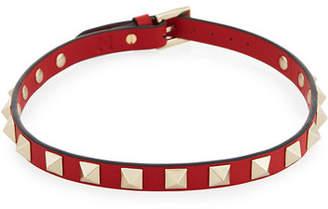 Valentino Small Rockstud Leather Choker Necklace