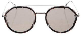 Christian Dior Homme Round Sunglasses