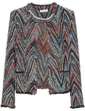 IRO Frayed Cotton-Blend Tweed-Jacquard Jacket