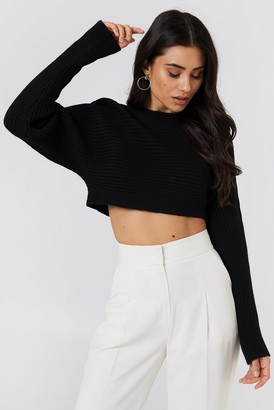 Na Kd Trend Cropped Batwing Sweater