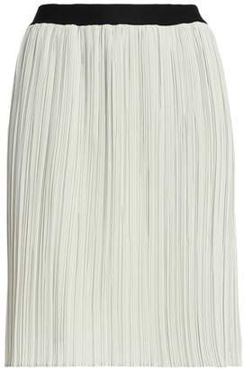 By Malene Birger Two-tone Cady Plisse Mini Skirt