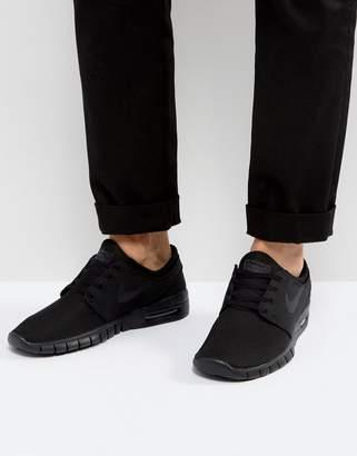 Nike Sb Stefan Janoski Max Sneakers In Black 631303-007