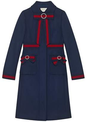 Gucci Women's Blue Wool Coat.