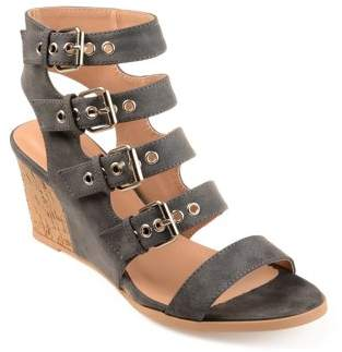 Co Brinley Womens Buckle Gladiator Open-toe Wedges