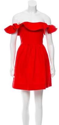 Apiece Apart Off-The-Shoulder A-Line Dress