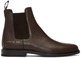 Common Projects Brown Chelsea Boots