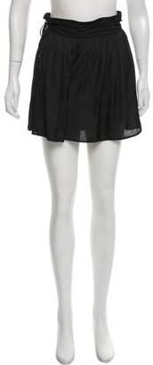 Halston Silk Flounce Shorts