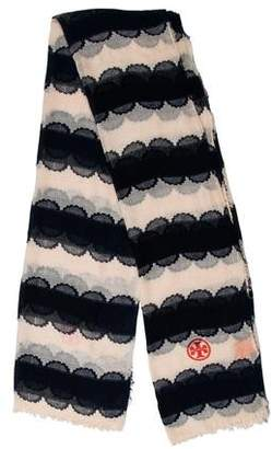 Tory Burch Printed Raw-Edge Scarf