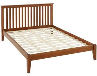 Camaflexi Mission Style King Size Platform Bed - Cherry Finish