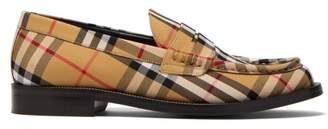 Burberry Bedmont Vintage Check Loafers - Womens - Multi