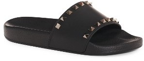 Women's Valentino Rockstud Slide Sandal $325 thestylecure.com