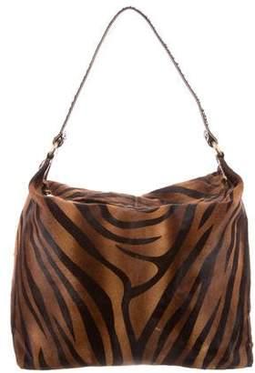 LAI Python-Trimmed Ponyhair Bag