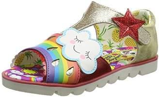Irregular Choice Girls' Diamond Rain Open-Toe Sandals,34 EU