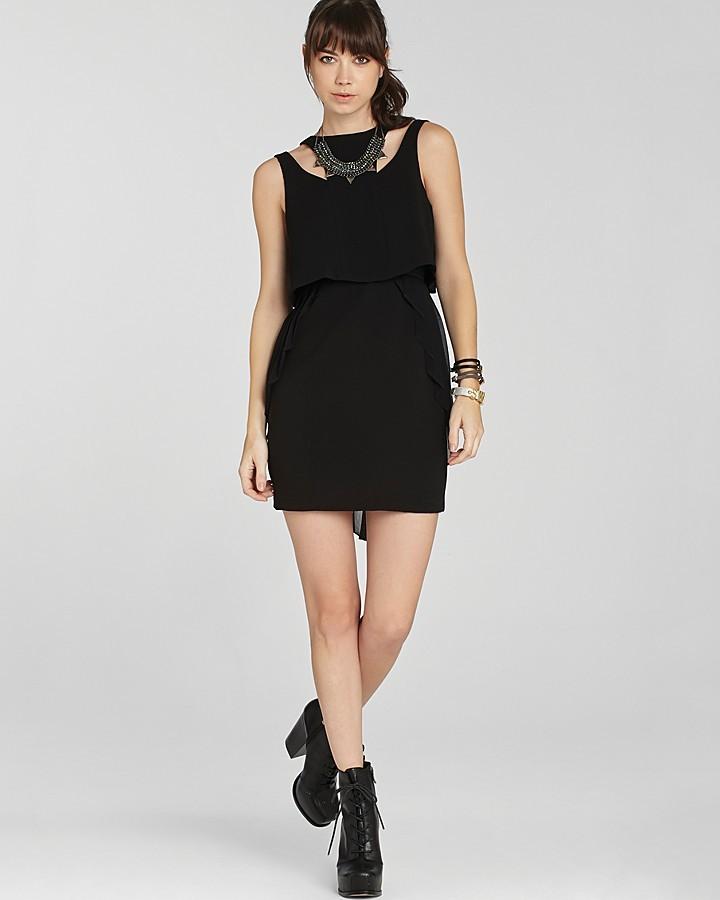 BCBGeneration Dress - Pleated Overlay