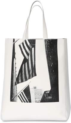 Calvin Klein American Flag Nappa Leather Tote Bag