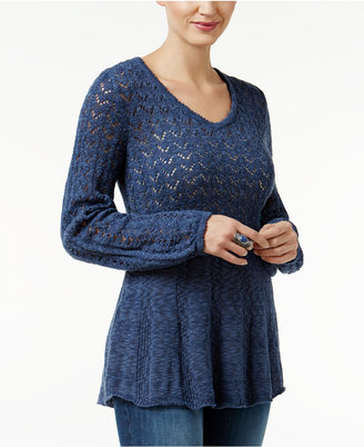 Style & Co. Pointelle Bishop-Sleeve Sweater, Only at Macy's $54.50 thestylecure.com