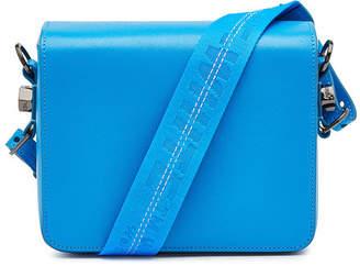 Off-White Plain Flap Leather Shoulder Bag