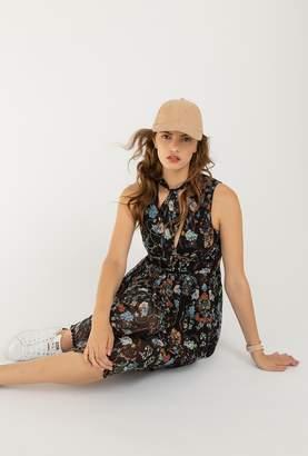 Azalea Floral Pleated Midi Dress