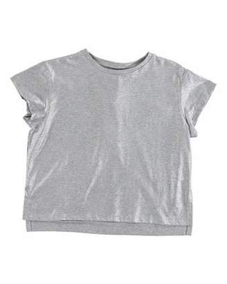 Stella McCartney Silver Foil Short-Sleeve Tee, Size 4-14