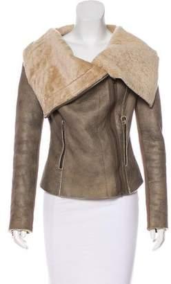 Muu Baa Muubaa Asymmetrical Shearling Jacket