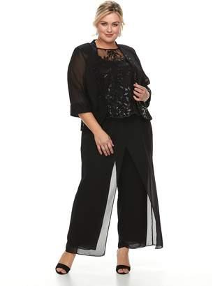 Le Bos Plus Size 3-Piece Pant Set
