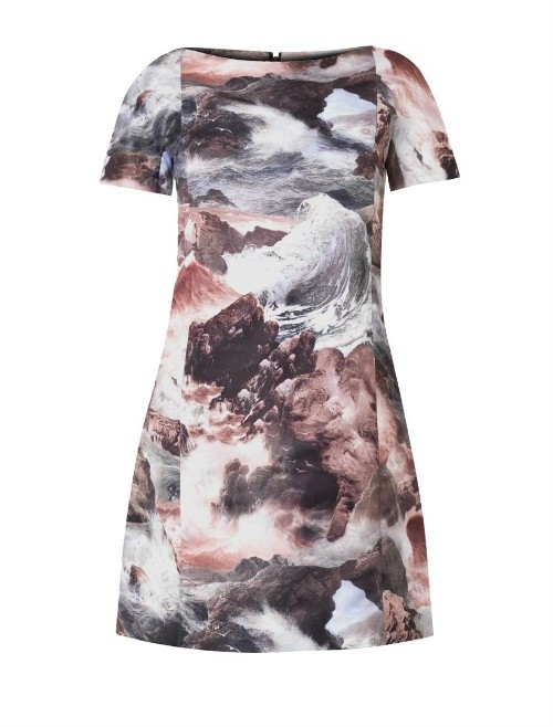 Carven Wave-print shift dress
