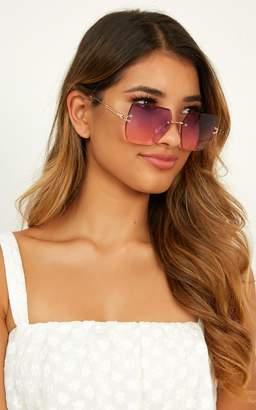 Showpo Reach For You Sunglasses In Purple Sunglasses