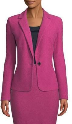 St. John Gracefully Refined Knit One-Button Jacket