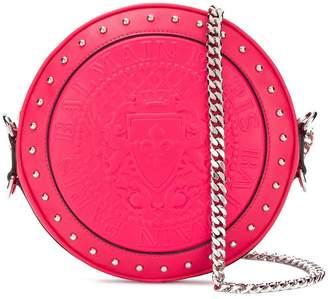 Balmain logo embossed shoulder bag