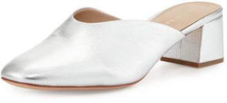 Loeffler Randall Lulu Leather Block-Heel Mule Slide