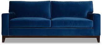 One Kings Lane Manhattan Velvet Sofa - Blue