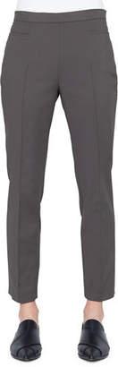Akris Punto Franca Techno-Cotton Side-Zip Straight-Leg Ankle Pants