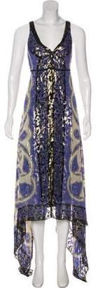 Nicole Miller Printed Sleeveless Maxi Dress