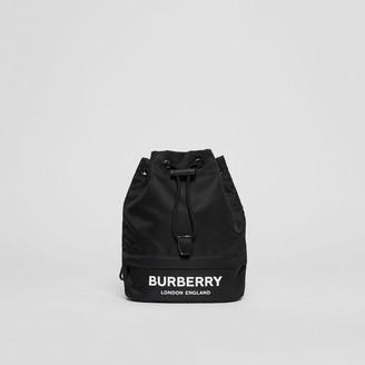Burberry Logo Print Nylon Drawcord Pouch