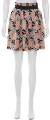Ganni Floral Print Mini Skirt w/ Tags