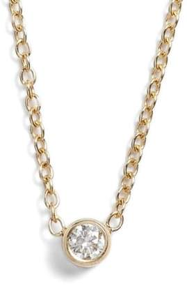 Chicco Zoe Diamond Bezel Pendant Necklace