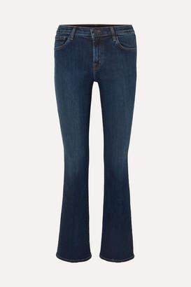J Brand Sallie Mid-rise Bootcut Jeans - Dark denim