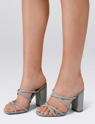 Forever New Luna Strappy Block Heel Mule - Ice Blue - 37
