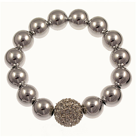 Bee Charming Trendy Silver Ball Bracelet