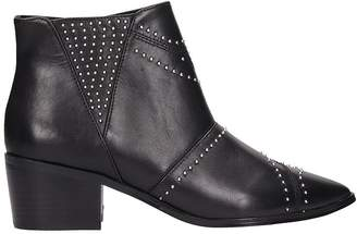 Bibi Lou Black Leather Ankle Boots