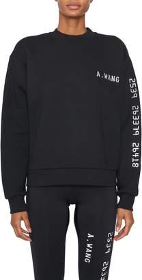 Alexander Wang Chrome Decals Sweatshirt