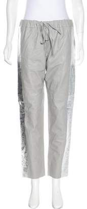 Les Chiffoniers Leather Mid-Rise Pants w/ Tags