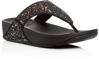 FitFlop Women's Lulu Glitter Platform Thong Sandals
